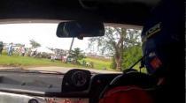 Paul Rees and Paul Briggs Rally Barbados 2013 Incar - SS21 Kendal