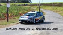 Daryl Clarke - Honda Civic - 2014 Barbados Rally Season