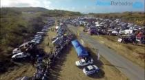 Aerial footage of the Thicketts Thriller drag race in Barbados