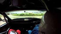 Daryl Clarke - valvoline rally bonnet blows up