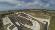 Aerial view of the redevelopment of Bushy Park race circuit, Barbados.