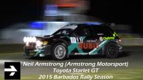 Neil Armstrong - Toyota Starlet GT (2015 Barbados Rally Season)