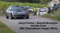 Daryl Clarke - Honda Civic - BRC Shakedown Stages 2015