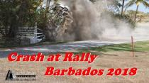 Crash at Rally Barbados 2018